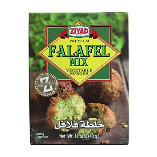 Ziyad Falafel Dry Mix, Non-GMO, Gluten-Free, vegan, 100% All-Natural, No Additives, No Preservatives, Veggie Burger Mix, 12 oz