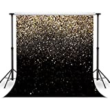 WOLADA 10X10ft Glitter Backdrop Gold Spots Bokeh Photo Backdrop Vinyl Photography Backdrop Vintage Abstract Family Wedding Birthday Baby Party Studio Prop 11176