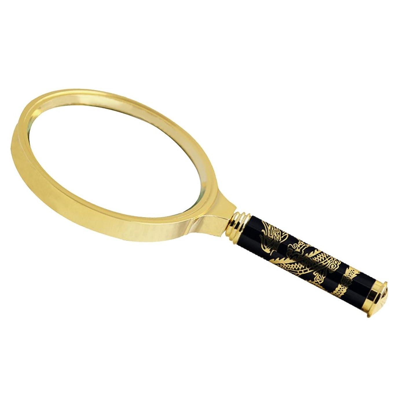フレキシブル予測服を着る/ロングハンドル銅フレーム携帯老人のHD読書30倍高光学ハンドヘルドルーペ/