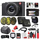 Leica D - Lux 7 Digital Camera (Black) (19141) + 64GB Extreme Pro Card + Corel Photo Software + Extra Battery + Portable LED Light + Card Reader + 3 Piece Filter Kit + Case and More - Deluxe Bundle