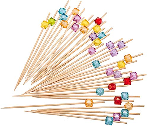 PuTwo Cocktailspieße Toothpicks Party Supplies 100 Count 12.5cm - Mehrere Farben