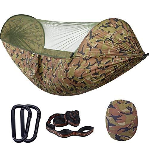 iBàste Camping moustiquaire hamac hamac à Ouverture Rapide Automatique Parachute de Nylon pour Camping randonnée