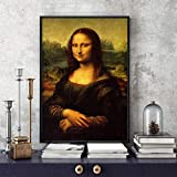 Leinwand Bild,Hd Drucken Mona Lisa Öl Gemälde, Poster Und