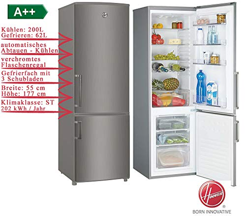 Hoover HVBS 5174 XH/1 Kühl-Gefrierkombination Freistehend Edelstahl-Optik Neu