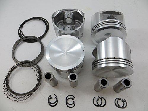 Upgraded Piston/Premium Ring Kit for 2.4L Nissan 93-97 Altima, 91-98 240SX 16V DOHC KA24DE (0.020=0.50mm oversize)