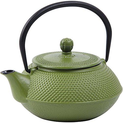 Deuba Teiera in ghisa dal Design Tradizionale Giapponese con Filtro da tè in Acciaio Inossidabile teiere 750 ml Verde