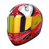 NENKI NK-856 Full Face Spiderman Motorcycle Helmet For Adult &Youth Street Bike,Fiberglass Helmet Shell,DOT Approved (RED BLUE, Large)