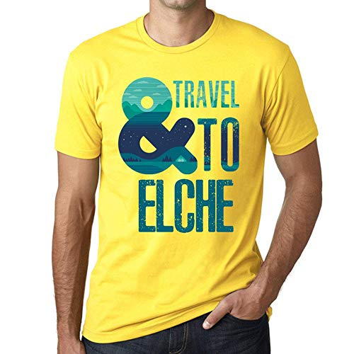 One in the City Hombre Camiseta Vintage T-Shirt Gráfico and Travel To Elche Amarillo