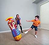 ML tentepie muñecos y Animales Hinchable tentetioso . muñeco Dinosaurio Hinchable para niños (Rojo-Gladiador)
