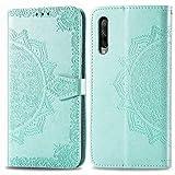 Bear Village Hülle für Huawei Honor 9X Pro, PU Lederhülle Handyhülle für Huawei Honor 9X Pro, Brieftasche Kratzfestes Magnet Handytasche mit Kartenfach, Grün