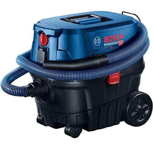 BOSCH 060197C100 Professional Gas 12-25 PL Nass-/Trockensauger mit Gerätesteckdose und Blasfunktion, 25 Liter, 1250 W