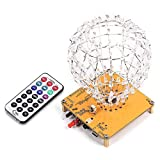 PEMENOL LED Cubic Ball Bausatz, Elektronik Bausatz 3mm RGB LED-Lichtwürfel Cubic Ball Kreative elektronische Kit Fernbedienung