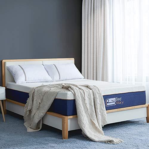 BedStory Colchón Viscoelastico 90 x 190 cm, Colchón de Espuma con Me