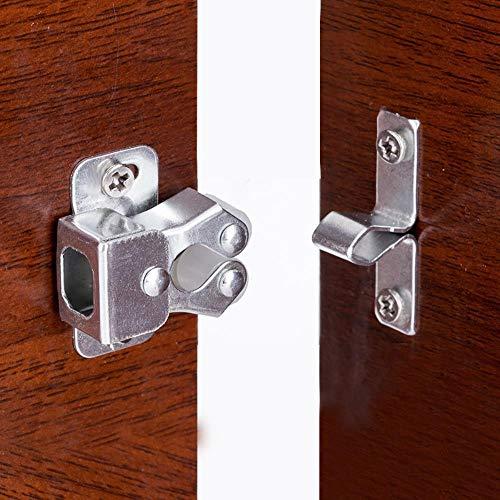 Yener 5PCS Door Stop Closer Stoppers Damper Buffer Magnet Cabinet Catches Met Schroeven Voor Garderobe Hardware Meubelbeslag, Zilver