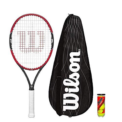 Wilson Pro Personal 25 Junior Raqueta Tenis + 3 Pelotas de Tenis Pvp 90 Libras