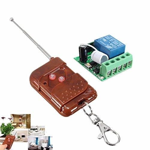 Bluelover Dc 12V 10A 1Ch 433Mhz Relais Wireless Hf Fernbedienung Schalter Empfänger Mit Sender