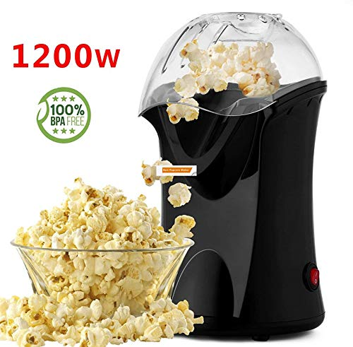 Find Bargain Hot Air Popcorn Maker,Popcorn Machine,Popcorn Popper 1200W,No Oil Needed, Including Mea...
