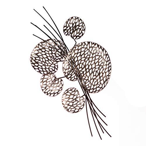 Casablanca Tischdeko/Wanddeko Purley Leaves Metall braun/silberfarben Antikfinish 5 unterschiedlich große Blätter zum Stellen und Hängen H: 10 cm B: 52 cm T: 27cm 74993