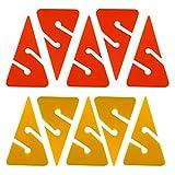 Toygogo 10 Pièces Orange Et Jaune en Forme De Triangle en Ligne PVC Marqueurs De Flèche pour La...
