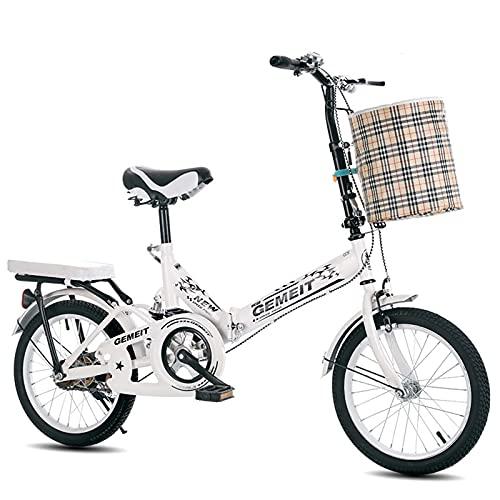 Bicicleta Plegable - Soporte para Bicicletas De 20 Pulgadas, Bicicleta Plegable para Unisex, Amortiguación, Ligera, Cómoda, Portátil, para Bicicletas De Interior, Hombres, Mujeres, Estudiantes Y Via