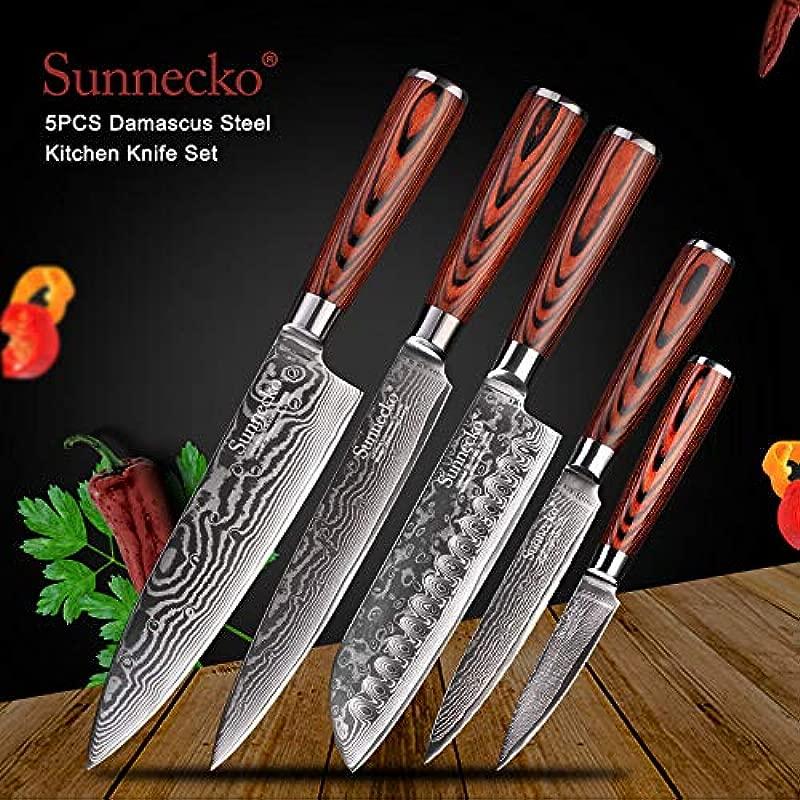 Best Quality Kitchen Knives Santoku Knife Japanese 73 Layers Damascus Steel Kitchen Knives Pakka Wood Handle Utility Chef Slicing Paring Cut Tools