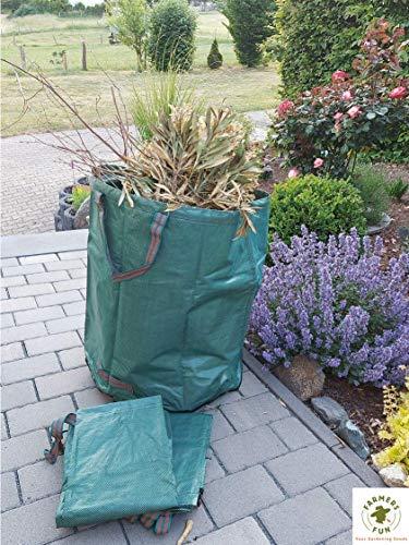 Preisvergleich Produktbild FARMERS FUN Gartensack 272 L,  selbststehend,  3er Set