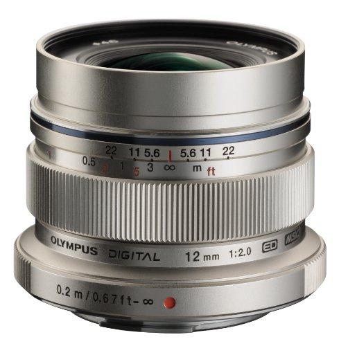 OLYMPUS M.Zuiko Digital ED 12mm f2.0 Lens for Micro Four Thirds Cameras (Silver)