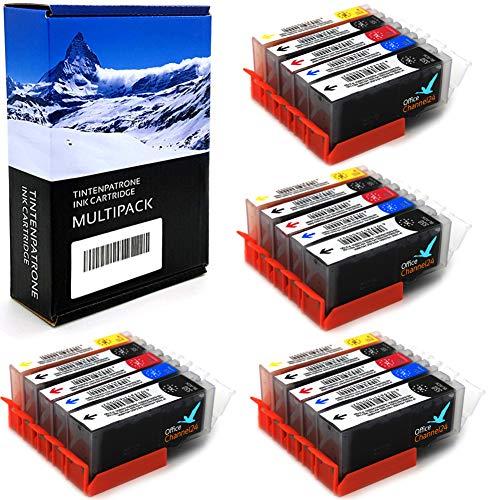 20 Office Channel24 Drucker Patronen kompatibel zu Canon PGI 550 BK CLI 551 C CLI 551M CLI 551 Y und CLI 551 PBK für Canon Pixma MX925 MX725 IP7250 MG5450 MG 5655 MG6350 MG7150 MG 6450 MG 5550