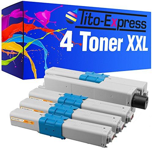 Tito-Express PlatinumSerie 4 Toner XXL für Oki C332 DN C363 N MC363 DNW MC363 DN C332DN C363N MC363DNW MC363DN C-332DN C-363N MC-363DNW MC-363DN C 332DN C 363N MC 363DNW MC 363DN