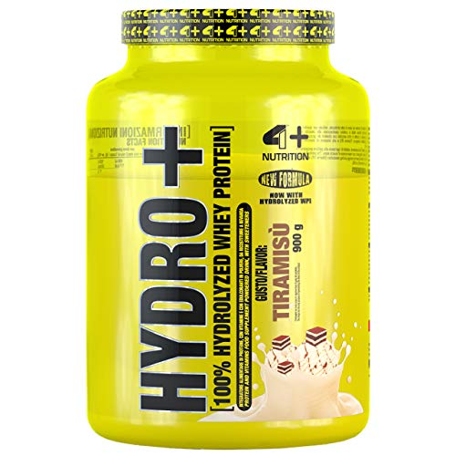 4 Sport Nutrition Hydro Package of 1 x 900g Whey Protein Hydrolyzate with Vitamins B6 B12 and B1 - Muscle Building (Tiramisu)