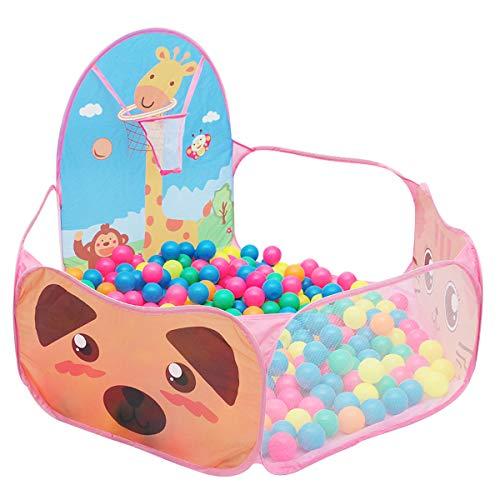 Camidy Ballenbak Speeltent Voor Kinderen Ballenbak Zwembad Box Met Basketbalring Kinderen Opvouwbaar Speelhuis Geweldig Peuterspeelgoed