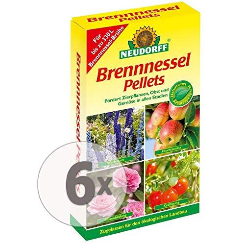 Neudorff Brennnessel Pellets Gardopia Sparpaket + Zeckenzange mit Lupe (6 x 500 g)