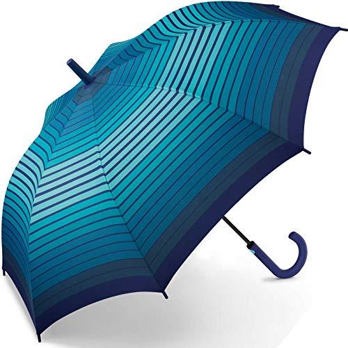 Esprit Stockschirm Long AC Gradient Stripes - Blue