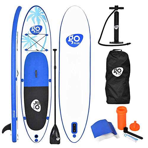 COSTWAY SUP Board 330 x 75 x 15cm, Stand up Board aufblasbar, Stand up Paddling Board, Stand up Paddel Board, Paddelboard, inkl. Rucksack, Pumpe, Reparaturset, Paddel und Center Finne