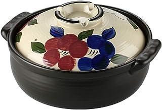 l.e.i. Donabe Japanese Ceramic Hot Pot Casserole,Round Covered Casserole Dish,Healthy Slow Stew Pot,Heat-Resistant Nutriti...