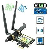 Ziyituod Tarjeta WiFi Gigabit, Tarjeta WiFi PCIe...