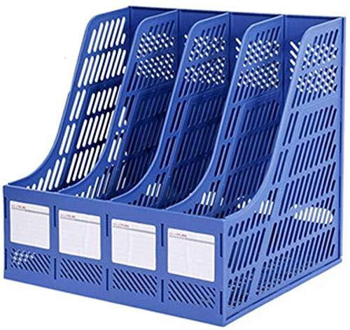 File Cabinet File Holder Storage Box Informatie Frame Kantoorbenodigdheden Decorationsbookends Quad File Plastic Desktop Opbergdoos Blauw