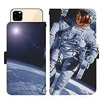 AQUOS sense4 lite SH-RM15 スライド式 手帳型 スマホケース スマホカバー dslide437(G) 宇宙飛行士 宇宙 スペース ユニバース コスモ スマートフォン スマートホン 携帯 ケース アクオス アクオスセンス4 ライト 手帳 ダイアリー フリップ スマフォ カバー