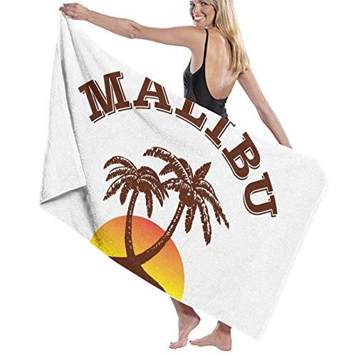 Lsjuee Toalla de baño de 80X130CM, Toallas de baño de Ron Malibu Toallas de baño de Playa súper absorbentes para Toallas de Playa de Gimnasio