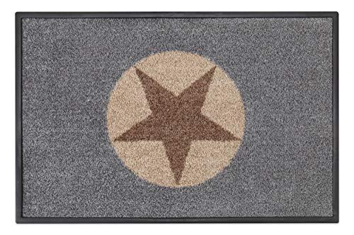 Carpet Diem Fussmatte Soft Stern 50x75cm Velour Schmutzfang Rahmen, Rückseite rutschhemmend saugstarkes Garn der Schmutzfangmatte nimmt Schmutz und Wasser auf