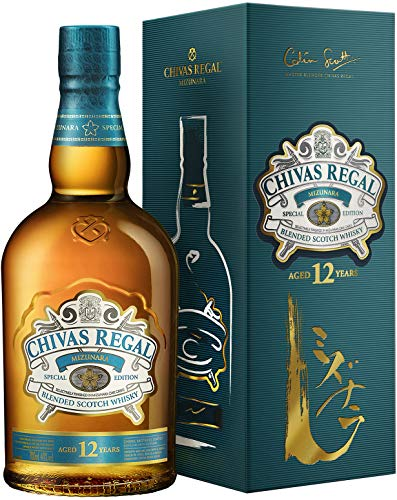 Chivas Regal Mizunara Whisky Escocés de Mezcla Premium Whisky Japonés - 700 ml