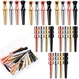 URATOT 24 Pieces Metal Cribbage Pegs Fit 1/ 8 Holes Cribbage Pegs with 2 Style for Cribbage Traditional Board Game, 4 Colors
