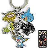 How to Train Your Dragon Metal Charm Keychain 5 in 1
