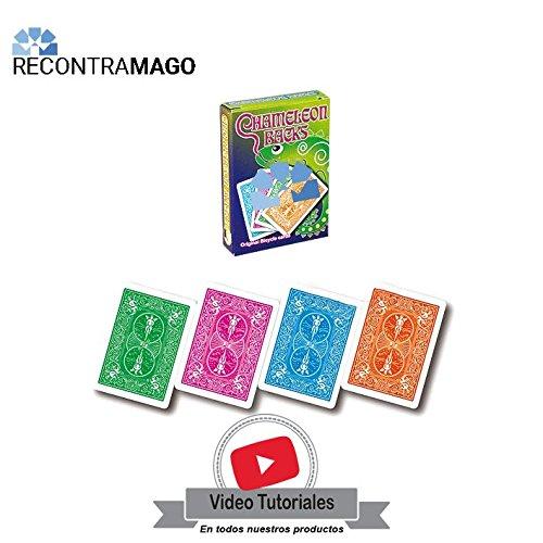 RecontraMago Juegos de Magia con Cartas - Faciles y Muy Divertidos - Incluye VideoTutorial por Magos Profesionales (Camaleón)