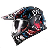 Sportinents Casco Moto off Road con Casco Moto Cross Motocross di Sunshield Blooming XXXL