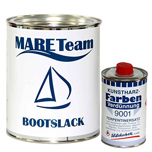 Wildschek - Mareteam Bootslack 750 ml Profiausführung matt + Verdünnung 0,5 Liter