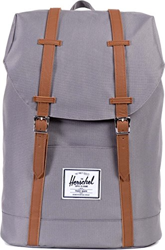 Herschel Supply Co Retreat Straps Backpack Rucksack Bag Grey