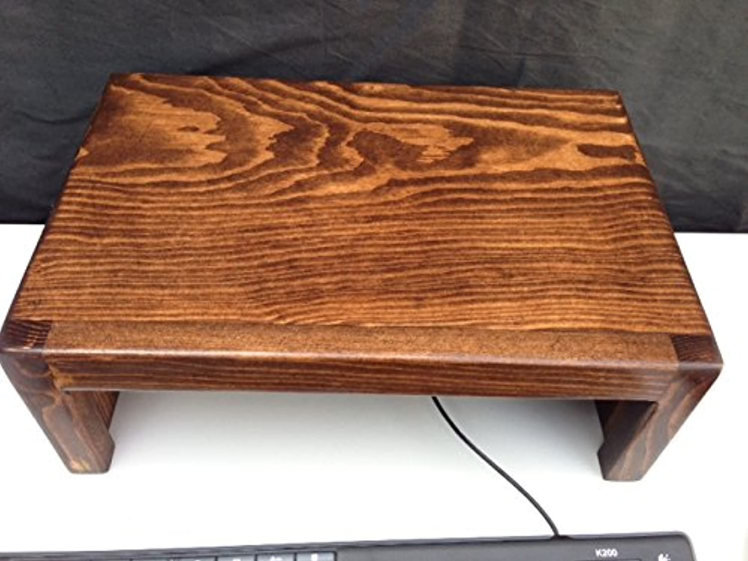 Ideas to Home Computer Monitor Riser Solid Clean Pine Wood (15  W x 10  D x 5 1 2  H, Coffee)