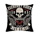 Kustom Factory Kissen Vintage Skull Ride Gold Die