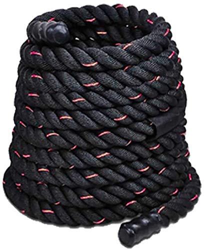 KJRJDD 9M / 12M / 15M Dacron Material Pesado Negro Oro Battling Cuerda Cuerpo Físico Entrenamiento de la Fuerza Aptitud del Deporte Ejercicio de Entrenamiento de la Cuerda